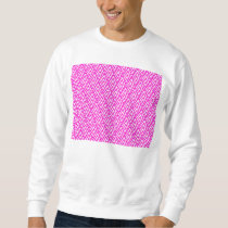 Pink Chevron Foil Pink and White Geometric Pattern Sweatshirt