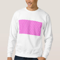 Pink Chevron Foil Pink and White Geometric Pattern Sweatshirt