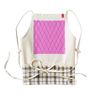 Pink Chevron Foil Pink and White Geometric Pattern Zazzle HEART Apron
