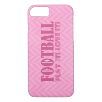 Pink Chevron Football Play It Love It iPhone 7 Case