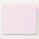 Pink Chevron Girly Pattern Mouse Pad