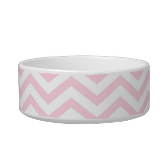 Pink Chevron Girly Pattern Pet Water Bowls