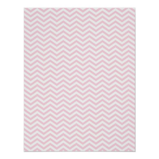 Pink Chevron Girly Pattern Poster