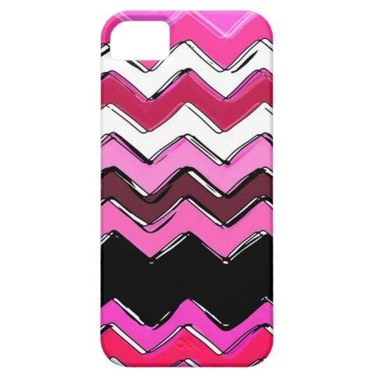 pink chevron iPhone SE/5/5s case