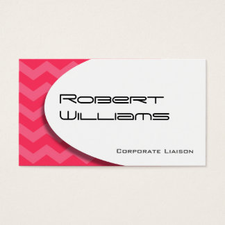 Pink Chevron Modern Professional Business Card