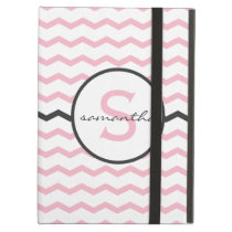 Pink Chevron Monogram iPad Air Cover