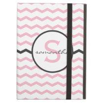 Pink Chevron Monogram iPad Air Cover