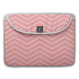 "Pink Chevron Pattern 15"" MacBook Pro Sleeve"