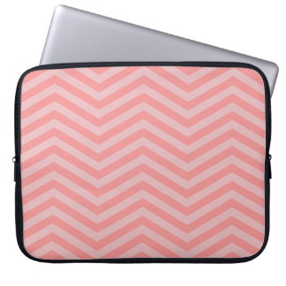"Pink Chevron Pattern 15"" Notebook Sleeve"