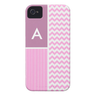 Pink Chevron Pattern Case-Mate iPhone 4 Cases