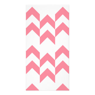 Pink Chevron Pattern Geometric Designs Color Card