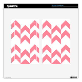 Pink Chevron Pattern Geometric Designs Color Skin For Kindle Fire