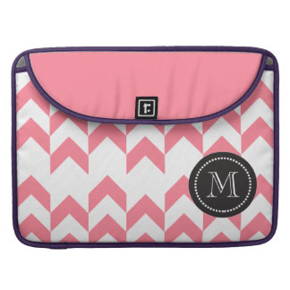 Pink Chevron Pattern Geometric Designs Color Sleeve For MacBook Pro