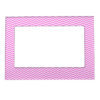 Pink Chevron Pattern Girly Picture Magnetic Frame