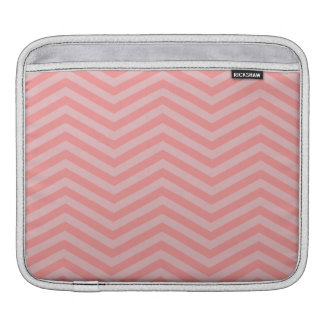 Pink Chevron Pattern iPad Sleeve