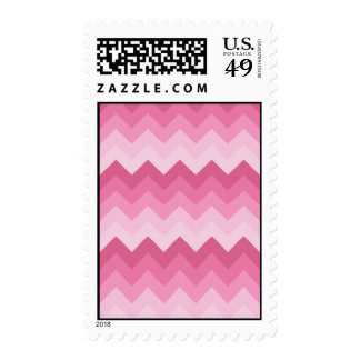 Pink chevron pattern stamps