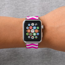 Pink Chevron Patterned Apple Watch Band