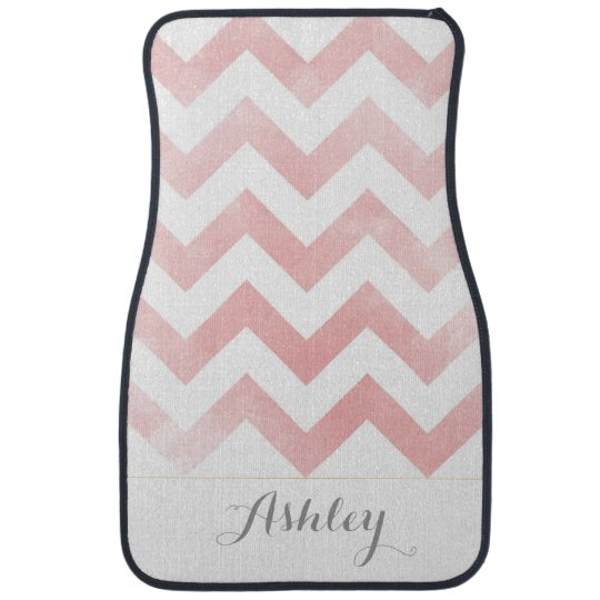 Pink Chevron Personalized Car Mats Zazzle Com