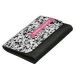 Pink Chevron Personalized Wallet