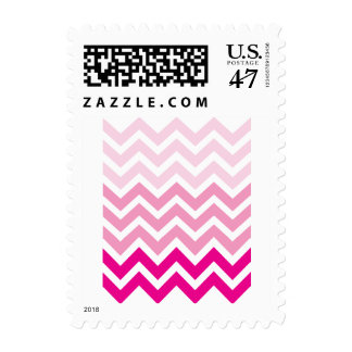 Pink Chevron Postage