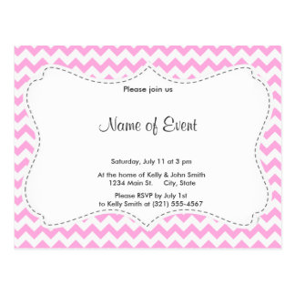 Pink Chevron Post Cards