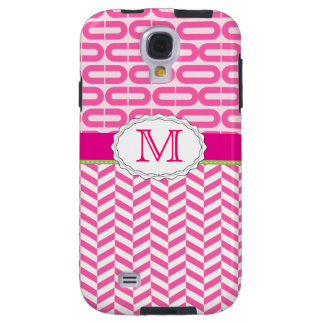 Pink Chevron Samsung Galaxy S4 Case
