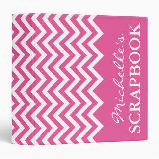 Pink chevron scrapbooking binder | Scrapbook album