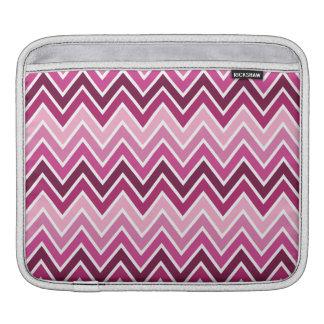 Pink Chevron Stripe iPad Sleeve iPad Sleeves