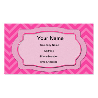 Pink Chevron Stripes Business Card