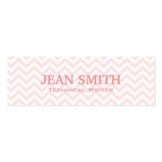 Pink Chevron Technical Writer Business Card