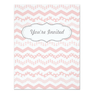 Pink Chevron with a twist Card
