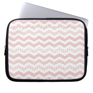 Pink Chevron with a twist Computer Sleeve