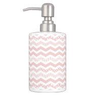 Pretty Pink Chevron Liquid Soap Dispenser
