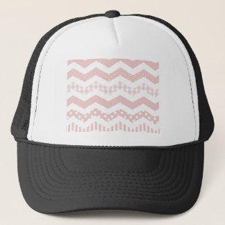 Pink Chevron with a twist Trucker Hat