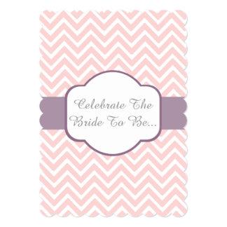 Pink Chevron With Heather Purple Cigar Band Design Card