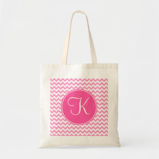 Pink Chevron with Pink Monogram Canvas Bags