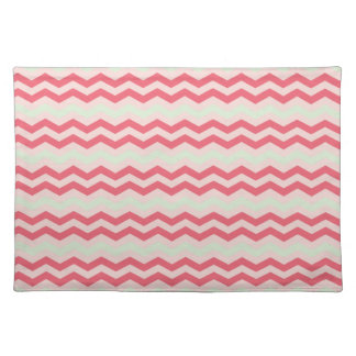 Pink chevron zig zag geometric zigzag pattern home cloth placemat