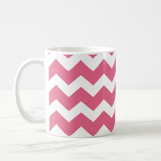 Pink chevron zigzag pattern modern trend coffee mug