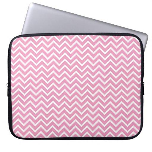 Pink Chevron Zigzag Stripes Computer Sleeves