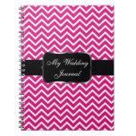 Pink Chevron Zigzag Stripes Spiral Note Book