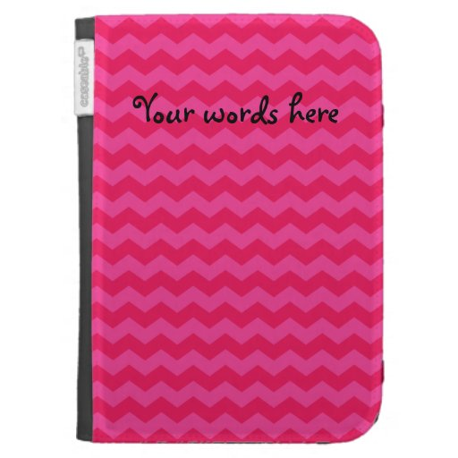 Pink chevrons kindle keyboard cases