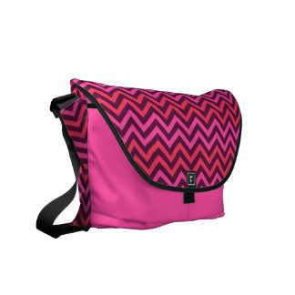 Pink Chevrons Zigzag Messenger Bag