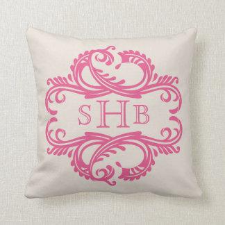 Pink Chic Damask Pillow