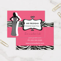 PINK chic fashion boutique Business Cards