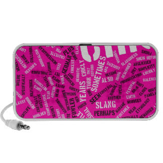 Pink Chic Typography Notebook Speakers