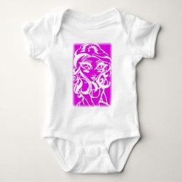 Pink chick baby bodysuit