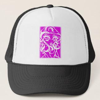 Pink chick trucker hat