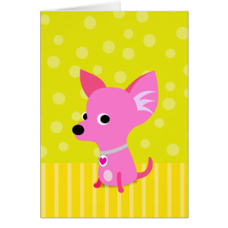 Pink Chihuahua Card