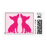 Pink Chihuahua cute postage stamp