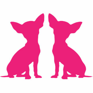 Pink Chihuahua cute silhouette sculpture, gift Photo Cut Outs